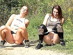 0  - Simultaneous pissing for gorgeous European girls